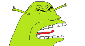 Shrek is a little angry by Fat-Kitty24