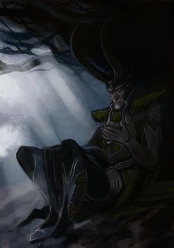 Loki Sketch by KimberlySwan