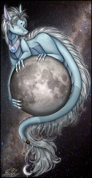 Moon Dragon by midfire
