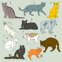 Cat adoptables :CLOSED: by Jenkin-Adoptables