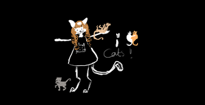 A Crazy Lady with cats. by Kadinskies