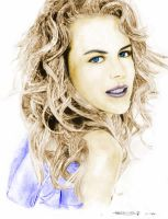 colored Nicole Kidman by nikki13088