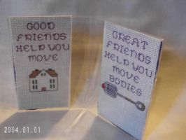 Funny Framed Cross Stitch, Best Friends by agorby00