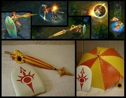 [League of Legends] Pool Party Leona Sword Shield by Makeshitoholic
