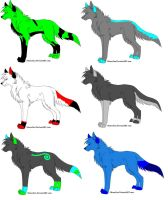 Wolf Adoptables 110 - 1 LEFT by Animal-Adoption-Club