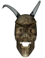 Skull N Horns 3 by markopolio-stock