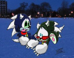 Werepuppies on Ice XDD by 5courgesbestbuddy