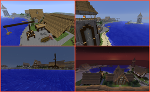 My medival habor of my new medival city by TERRORPOOH