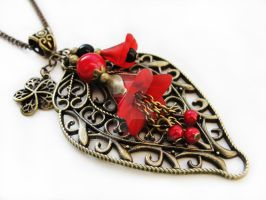 FOR SALE - Necklace - Passion red by Benia1991