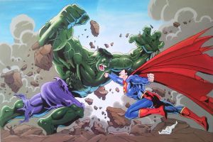 Superman vs Hulk by Spidey0107