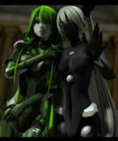 [MMD] Acid IA and Carbon Miku by Tri-Oxygen-Luka