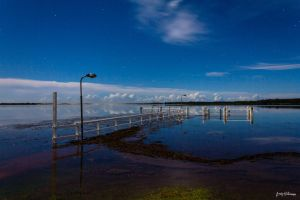 Midnight at the Flooded Wharf by andyhutchinson
