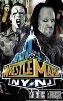 WrestleMania 29 - The Undertaker vs. Sting Poster by MarcusMarcel