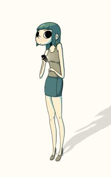 Cell phone girl by matchola