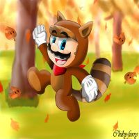 Tanooki Mario by chiby-furry