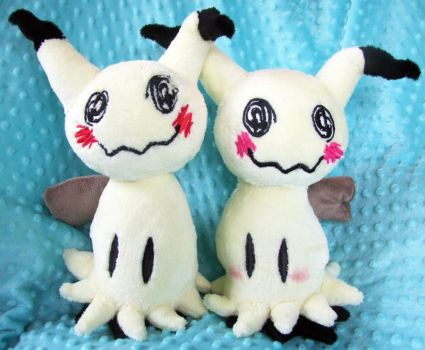 Boy and Girl Mimikyu plushies by scilk