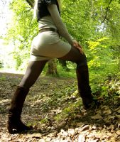 brown boots in woods - 6 by stereo-B
