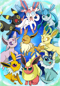 Eeveelutions :3 by X-BlackPearl-X