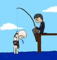 Novice Fishing by ZombiesAsAMetaphor