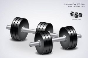 Free fitness icon dumbbell workouts by psdblast
