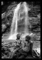 Water Fall Boys Central Africa by gurnard