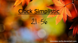 Clock Simplistic for xWidget by Tutoriales-Sochy