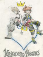 Sora and Roxas by superfreak333