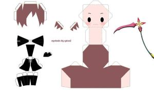 Marluxia papercraft template by noixeZ