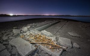 Nighttime at the Ghost Town of Mormon Island by raise-the-stakes