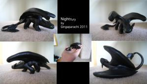 Nightfury sculpture by gingaparachi