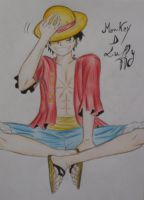 Monkey D Luffy by sakura-streetfighter