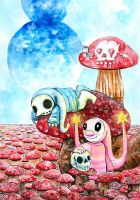 The Amanita Fields by highondopamine