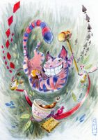 .:Cheshire cat:. by Marmottegarou