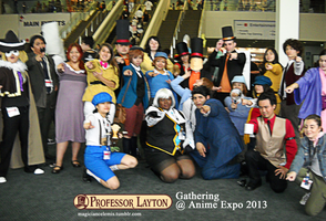 Professor Layton Gathering at AX 2013 by KatyMerry