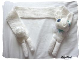 White Bunny Rabbit Scarf by Cateaclysmic