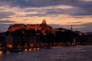 Sunset in Budapest, 2 by artspring