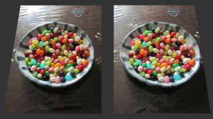 Stereograph - Jelly Bean Dish by alanbecker