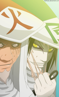 Sarutobi vs. Orochimaru +old+ by Thethiala