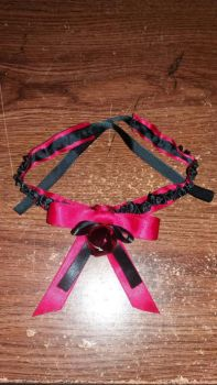 Red Choker Cat Coller Necklece by starynight9846