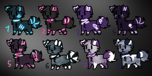 Doggies adopts (all for 10 points) [4/8 sold] by XxAdoptxX