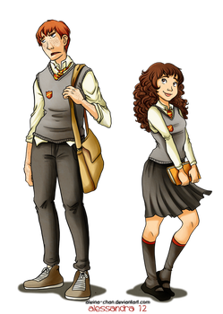 Prefect boy and girl by Aleccha