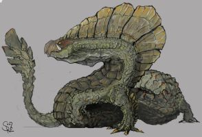 Najarala, the Wing Snake Wyvern by Halycon450