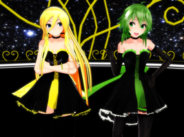 Lily and GUMI by TemmieVega1999