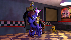 [SFM] Longhair's FNAF Plushie Overload by FD-Daylight