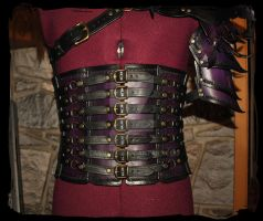 leather waist armor for man by Lagueuse