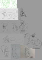 Art dump from 2014 unfinished work by Lugianiki123