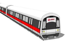 SMRT Train in Singapore by parka