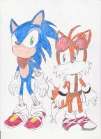 Sonic Boom Sonic and Tails by BlueSpeedsFan92