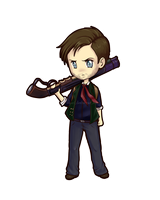 Chibi Booker Dewitt by uyuni
