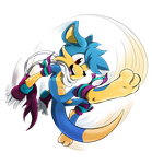 Comm: Spinning Jump Kick by Fly-Sky-High